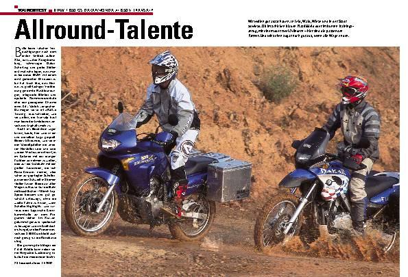 BMW F 650 GS Dakar/Honda XL 650 V Transalp