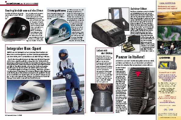 Neuheiten 2003- Ausrüstung