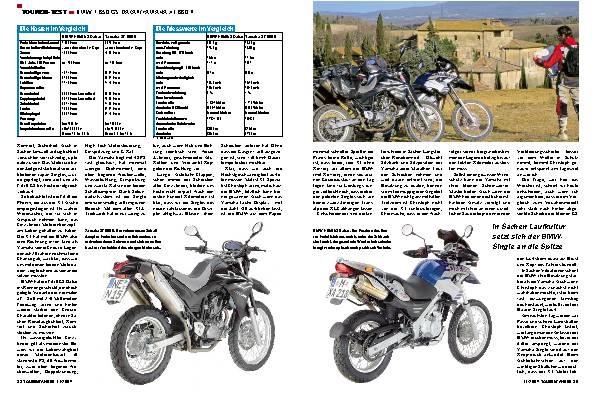 BMW F 650 GS Dakar/ Yamaha XT 660 R
