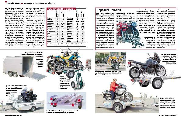 Anhänger - Motorrad im Schlepp