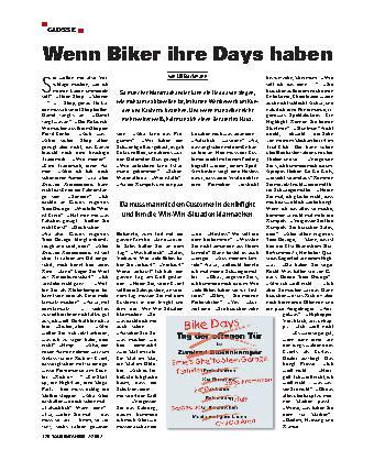 Wenn Biker ihre Days haben
