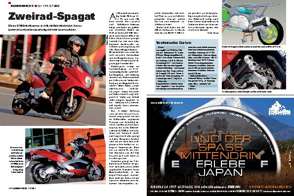 Zweirad-Spagat