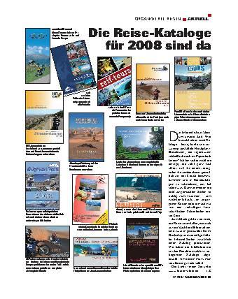 Die Reise-Kataloge für 2008 sind da