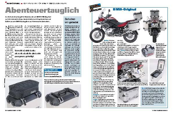 Abenteuertauglich - Koffersysteme für BMW R1200 GS / Adventure