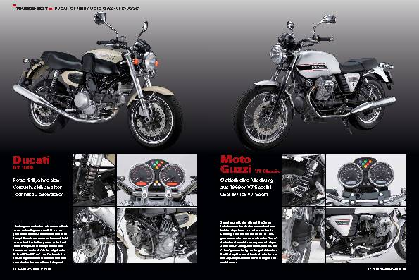 Touren-Test Ducati GT 1000 und Moto Guzzi V7 Classic