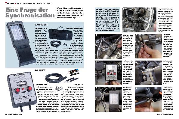 Praxis - Motorrad-Synchronisationsgeräte