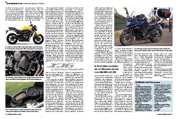 Yamaha XJ6 Diversion - Zurück in die Zukunft