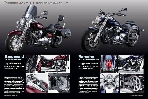 Tourentest - Kawasaki VN 900/Yamaha XVS 950 A