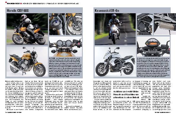 Touren-Test - Honda CBF 600/Kawasaki ER-6n/Suzuki Bandit 650/Yamaha XJ6