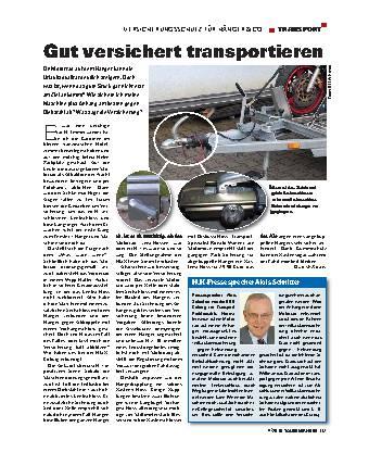 Transport - Versicherungsschutz für Hänger & Co.