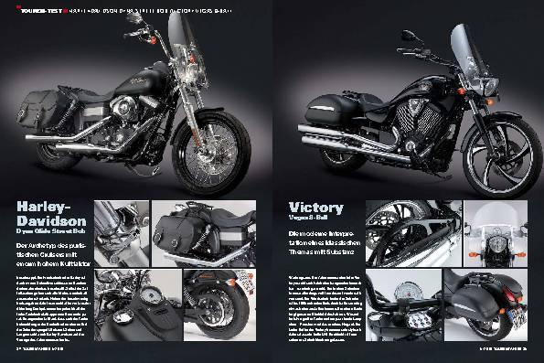 Touren-Test - Harley-Davidson Dyna Street Bob/Victory Vegas 8-Ball