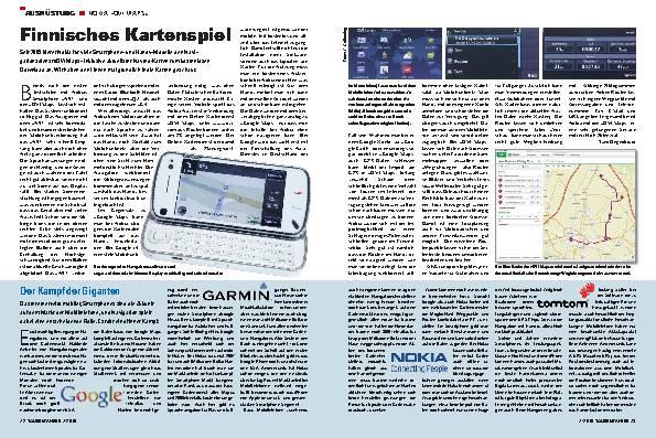 Ausrüstung - Nokia »OVI Maps«
