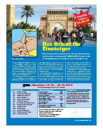 TF-Leserreise - »Marokko« 10.10. – 22.10.2010