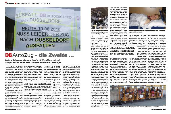 Report - Mit dem Bike per Bahn / Reaktionen
