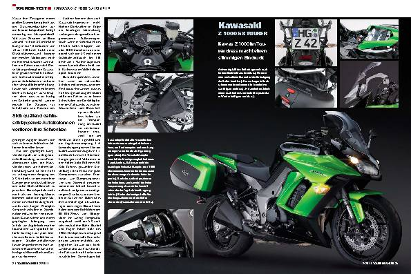 Touren-Test - Kawasaki Z1000 SX Tourer
