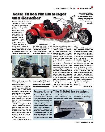 Mehrspur - Rewaco-Trikes für 2011