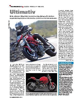 Fahrbericht - Ducati Monster 1100 Evo