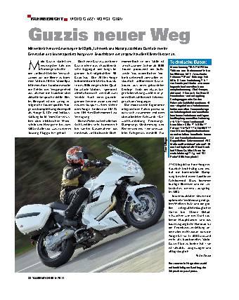 Fahrbericht - Moto Guzzi Norge GT8V