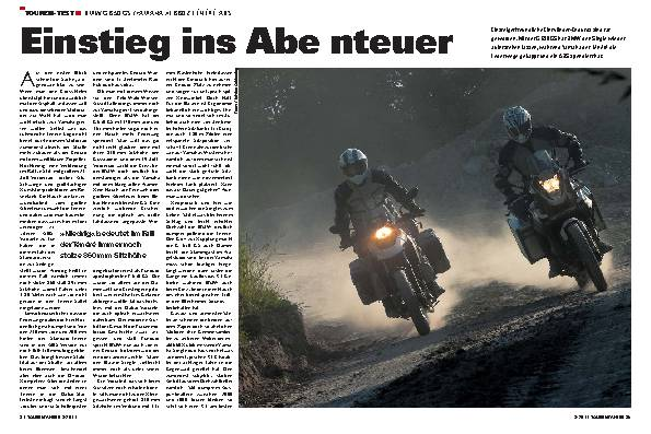 Touren-Test - BMW G 650 GS/Yamaha XT 660 Z Tenere ABS