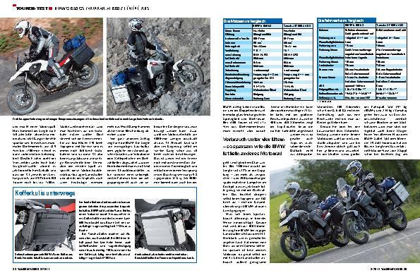 Touren-Test - BMW G 650 GS/Yamaha XT 660 Z Tenere ABS