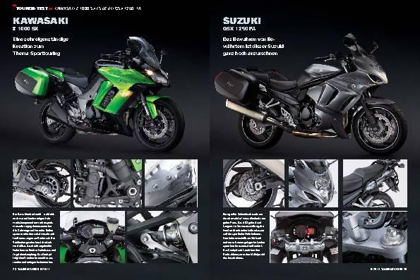 Vergleichstest - Kawasaki Z 1000 SX/Suzuki GSX 1250 FA