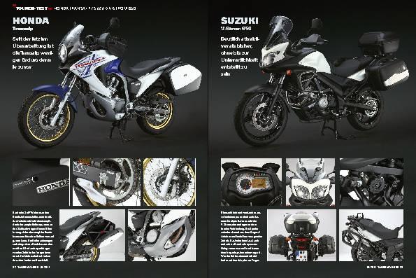 Touren-Test - Honda Transalp / Suzuki V-Strom 650