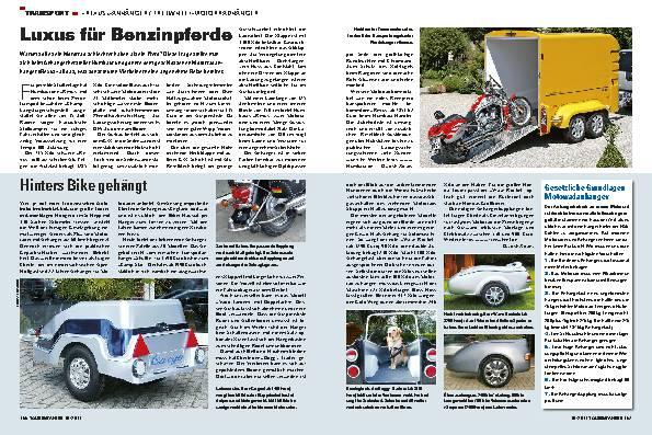 Transport - Rexus-Anhänger/Freewheel-Motorradhänger