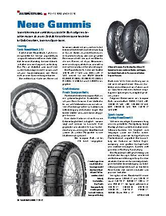Ausrüstung - Neuheiten auf dem Reifenmarkt
