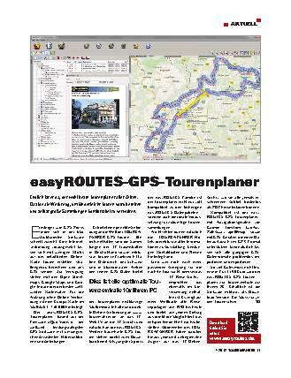 Aktuell - easyROUTES-GPS-Tourenplaner