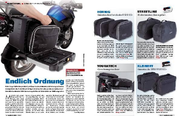 Ausrüstung - Ausprobiert: Innentaschen für BMW-Koffer