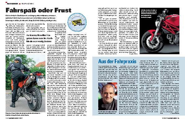 Fahrpraxis: Wahl des richtigen Motorrads
