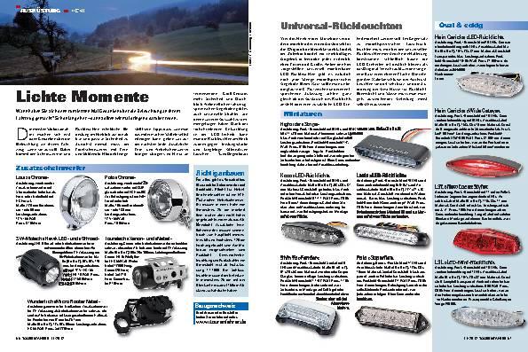 Ausrüstung - Besseres Licht am Motorrad