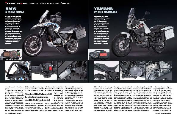 Vergleichstest: BMW G 650 GS Sertão / Yamaha XT 660 Z Ténéré ABS