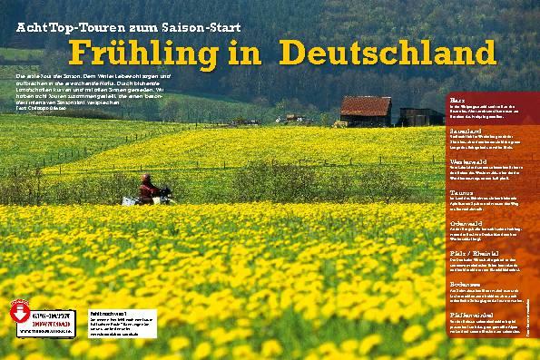 Deutschland: Acht Top-Touren zum Saisonstart – Frühling in Deutschland