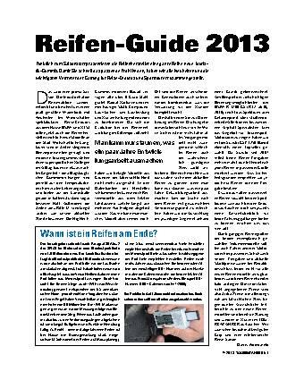 Reifen-Guide 2013