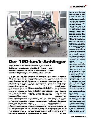 Der 100-km/h-Anhänger