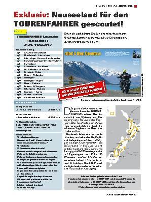 Exklusiv: Neuseeland für den TOURENFAHRER gescoutet!