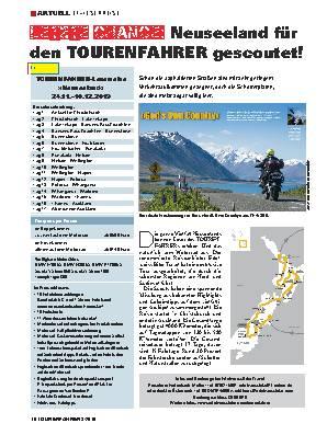 Letzte Chance: Neuseeland für den TOURENFAHRER gescoutet!